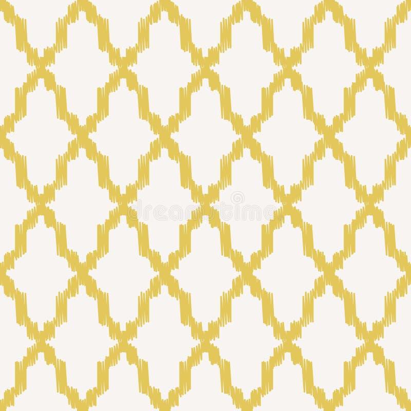 Sömlös geometrisk ingreppsmodell royaltyfri illustrationer