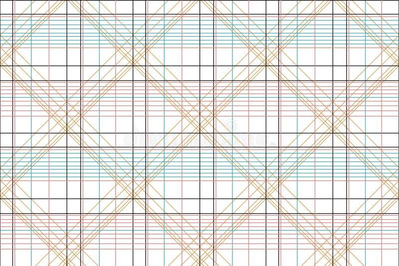 Sömlös geometrisk kontrollskjortadesign royaltyfri illustrationer