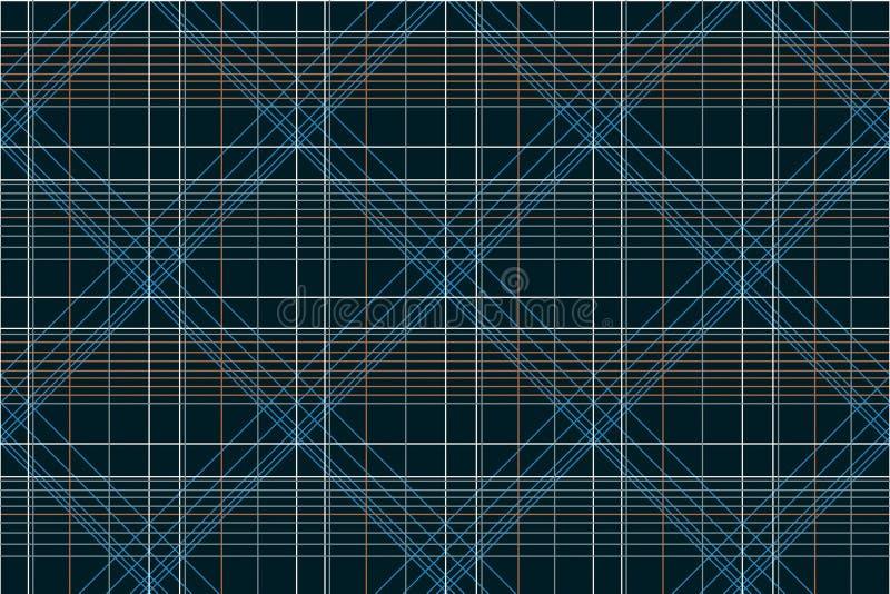 Sömlös geometrisk kontrollskjortadesign stock illustrationer