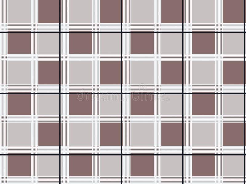 Sömlös geometrisk kontrollskjortadesign vektor illustrationer