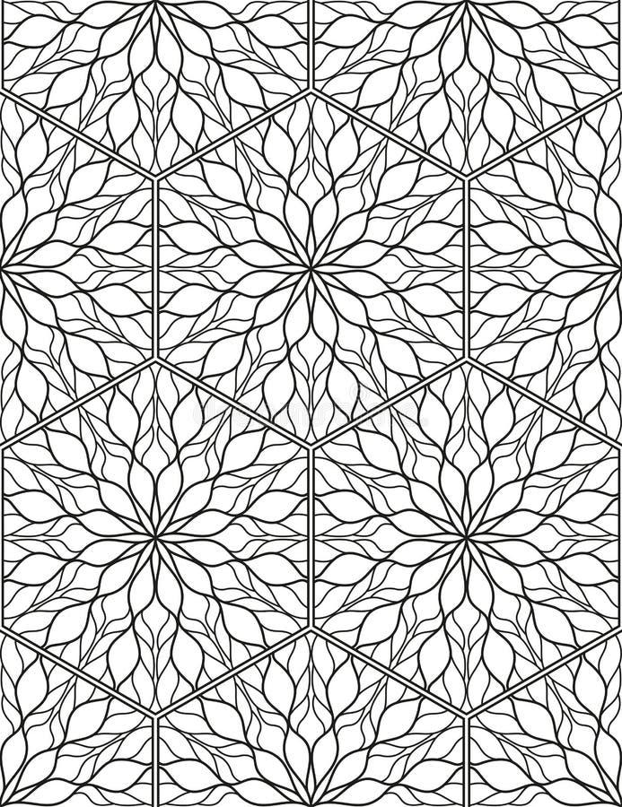 Sömlös geometrisk linje modell i arabisk stil, etnisk prydnad stock illustrationer