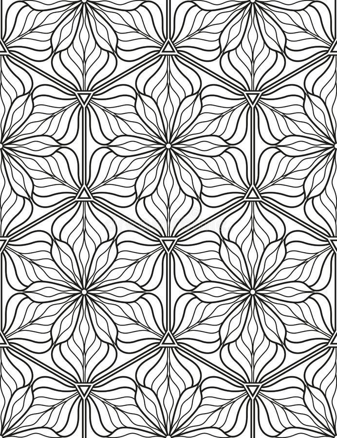 Sömlös geometrisk linje modell i arabisk stil, etnisk prydnad royaltyfri illustrationer