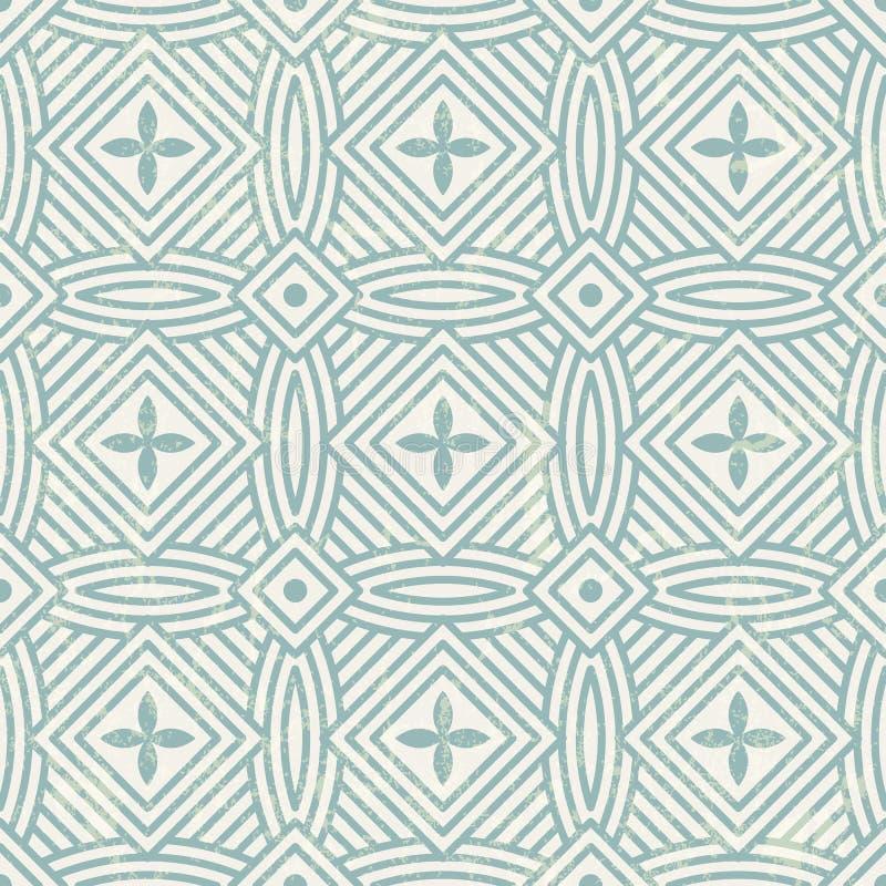 Sömlös geometrisk modell. stock illustrationer