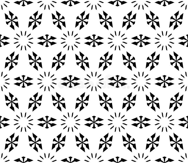 Sömlös geometrisk modell, enkla blom- diagram, snöig former royaltyfri illustrationer
