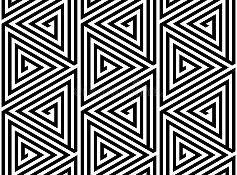 Sömlös geometrisk modell för triangelrasterabstrakt begrepp stock illustrationer