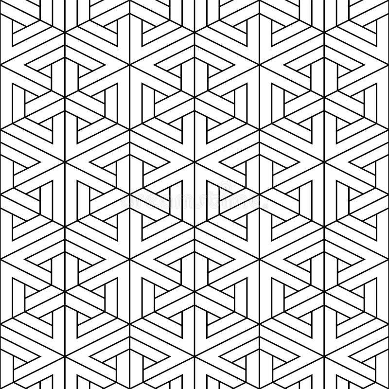 Sömlös geometrisk modell för vektor - dekorativ design idérik abstrakt bakgrund Linjär volymetrisk textur royaltyfri illustrationer