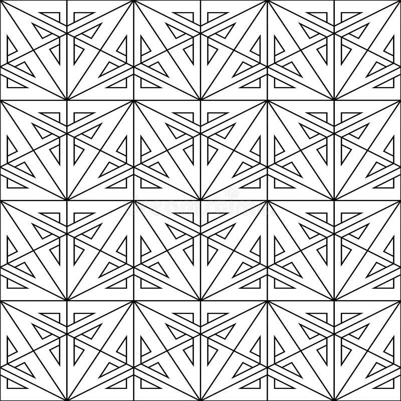 Sömlös geometrisk modell för vektor - idérik design stilfull abstrakt bakgrund stock illustrationer