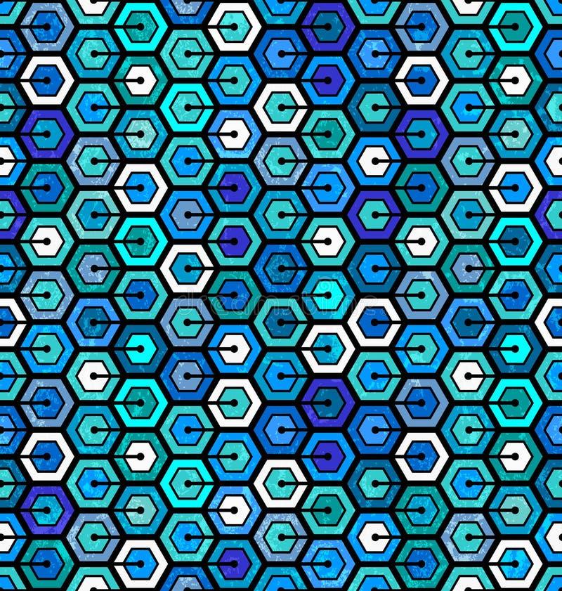Sömlös geometrisk modell med sexhörningar vektor illustrationer