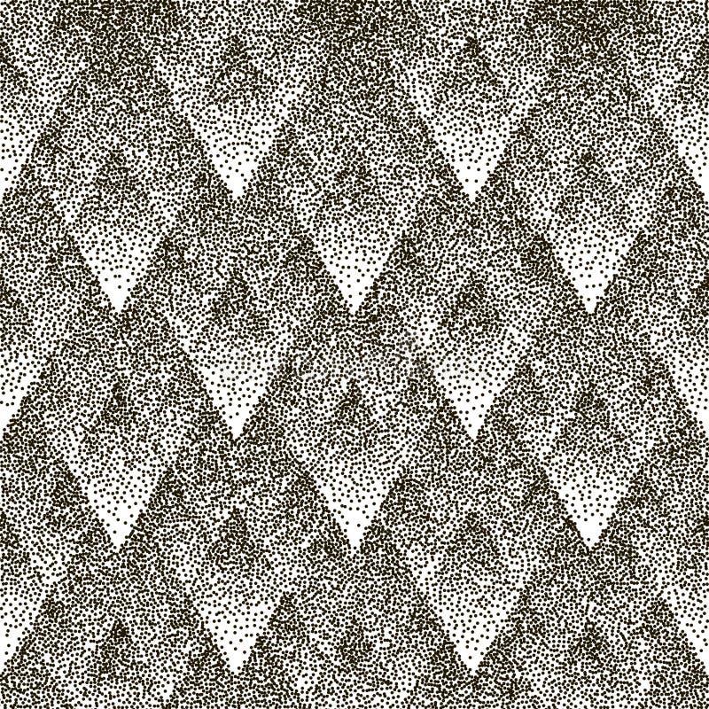 Sömlös geometrisk prickig modell för vektor vektor illustrationer
