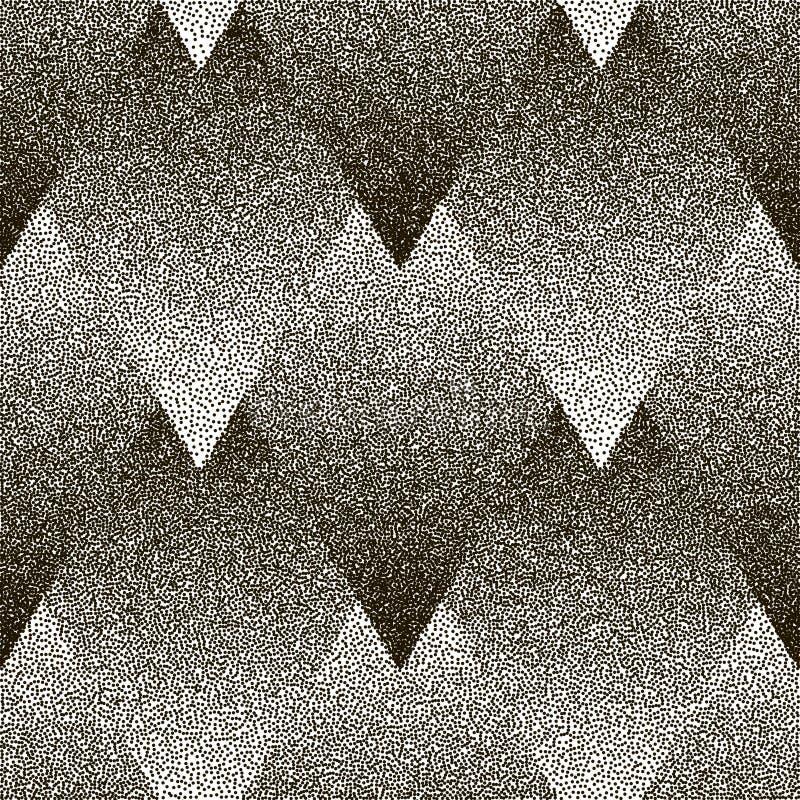 Sömlös geometrisk prickig modell för vektor royaltyfri illustrationer