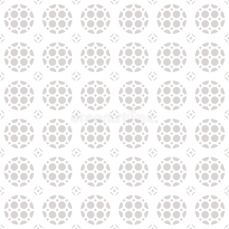 Sömlös geometrisk prydnadmodell Vit- och grå färgtextur stock illustrationer