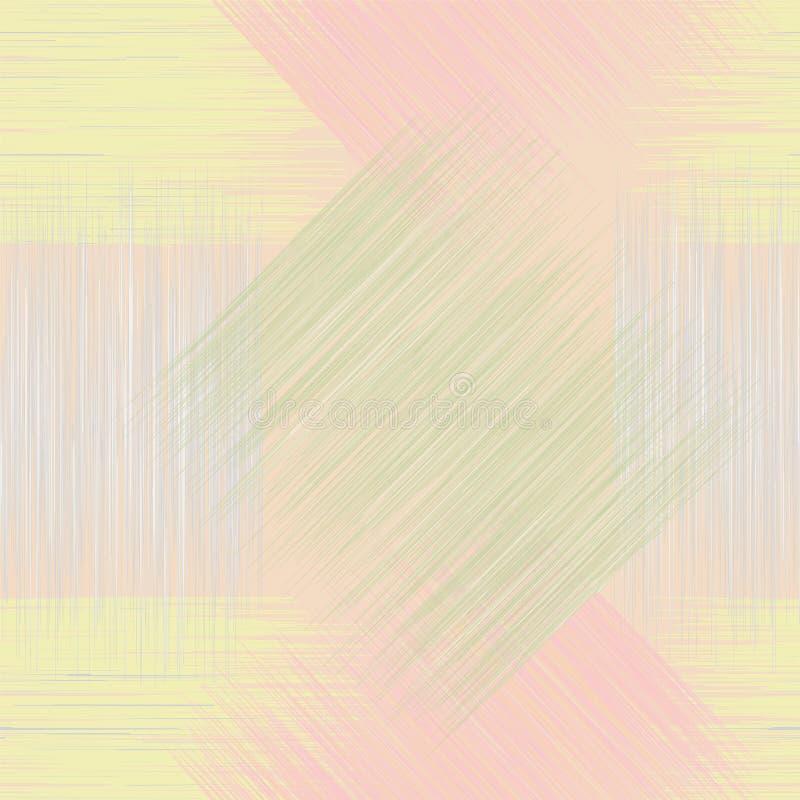 Sömlös geometrisk rutig grunge gjort randig smattrande royaltyfri illustrationer
