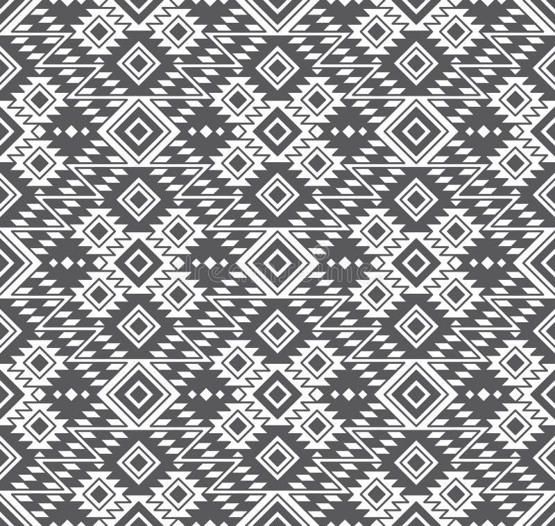 Sömlös geometrisk stam- etnisk modell för vektor stock illustrationer