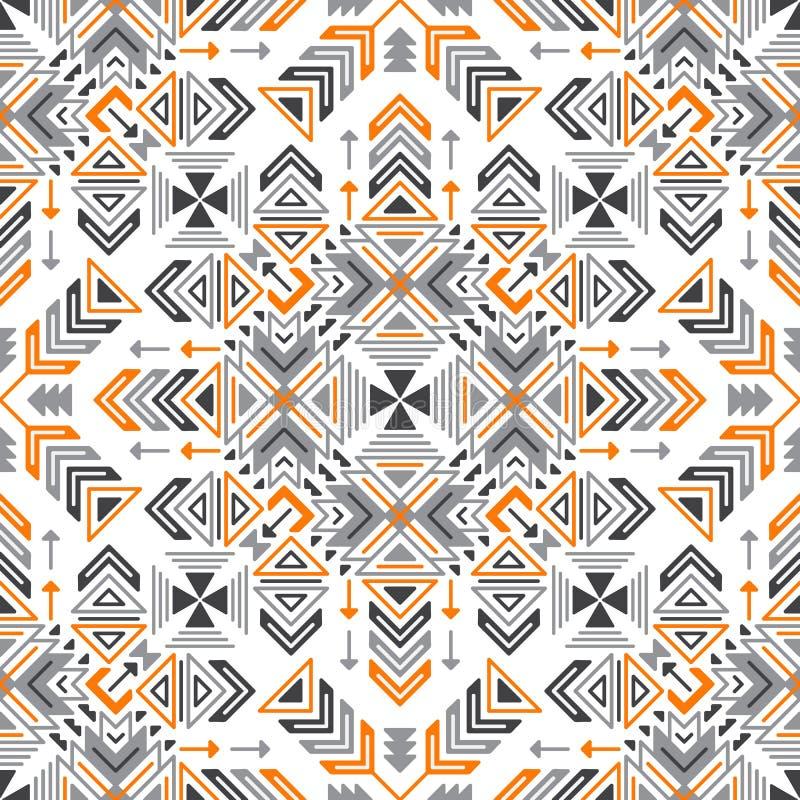 Sömlös geometrisk stam- etnisk modell för vektor vektor illustrationer
