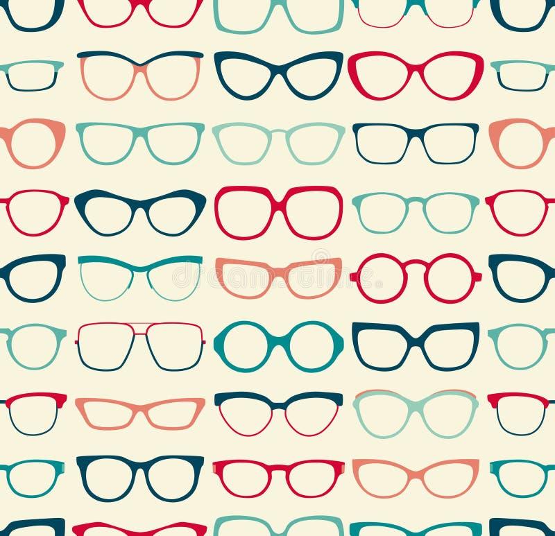 Sömlös glasögonmodell stock illustrationer