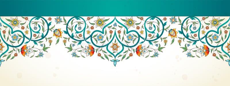 Sömlös gräns för Arabesque i östlig stil vektor illustrationer