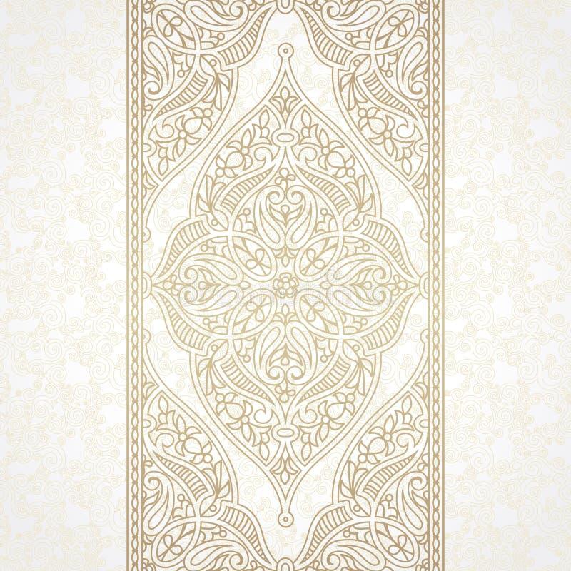 Sömlös gräns för vektor i östlig stil vektor illustrationer