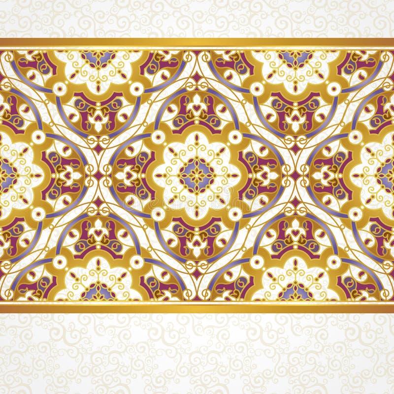 Sömlös gräns för vektor i östlig stil stock illustrationer