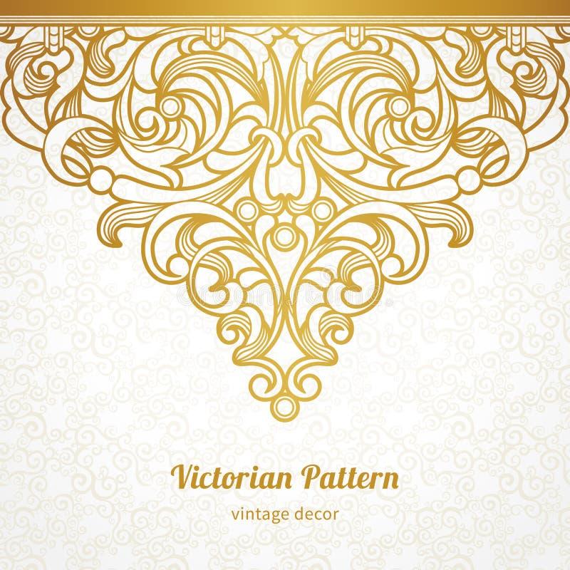 Sömlös gräns för vektor i viktoriansk stil stock illustrationer