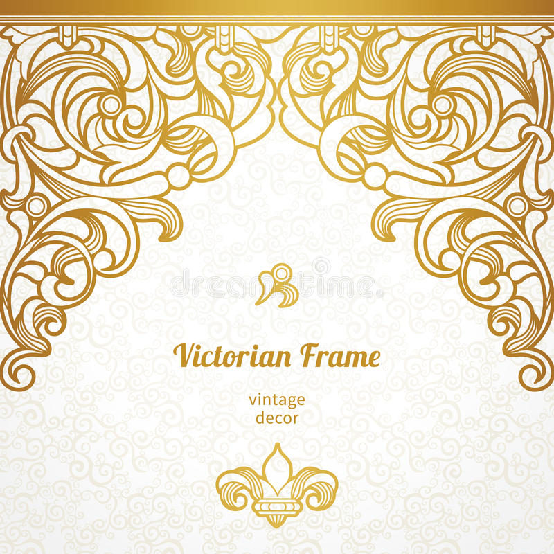 Sömlös gräns för vektor i viktoriansk stil royaltyfri illustrationer