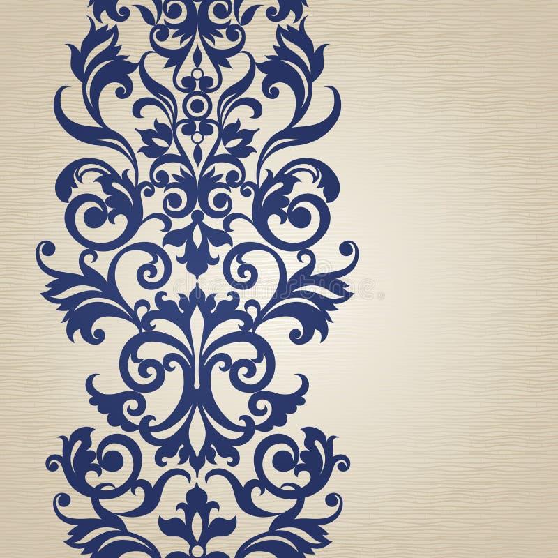 Sömlös gräns för vektor i viktoriansk stil vektor illustrationer