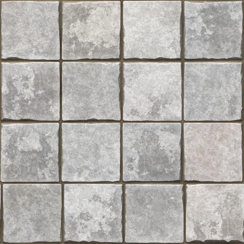 sömlös grå tegelplattabakgrund vektor illustrationer