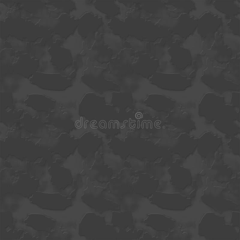 Sömlös grå textur av väggen, stenar, kullersten stock illustrationer