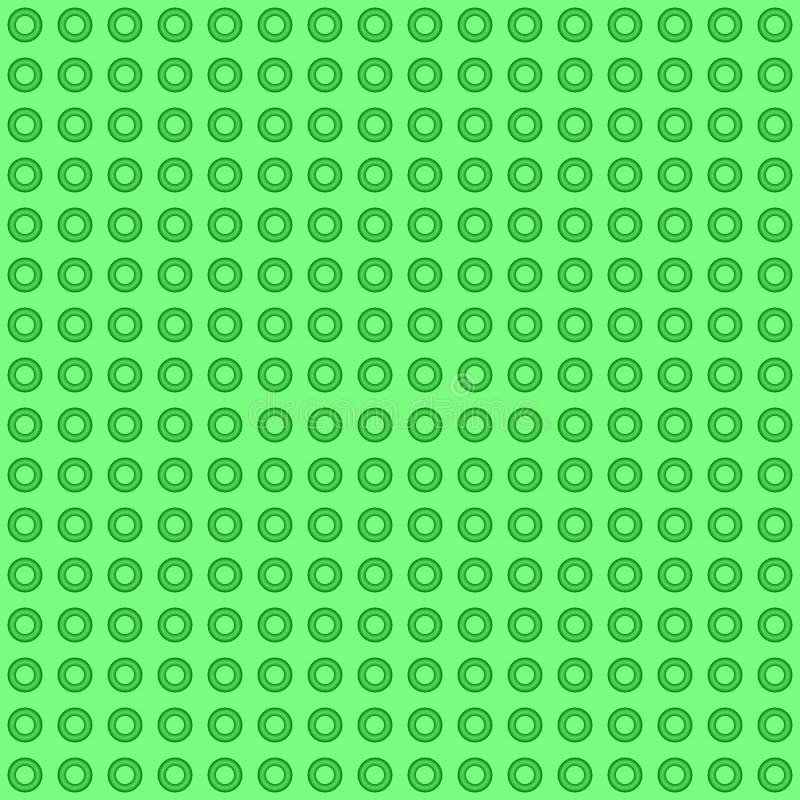 Sömlös grön abstrakt textur med cirklar vektor illustrationer