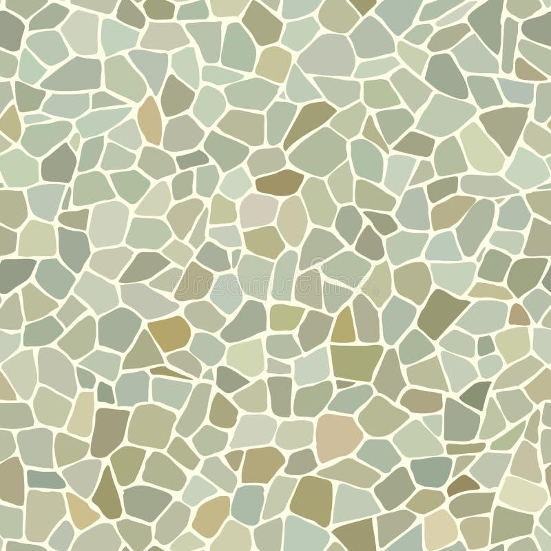 Sömlös grön kullerstenväggbakgrund vektor illustrationer