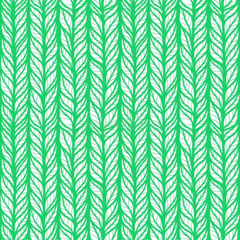 Sömlös grön modell med klottersidor vektor illustrationer