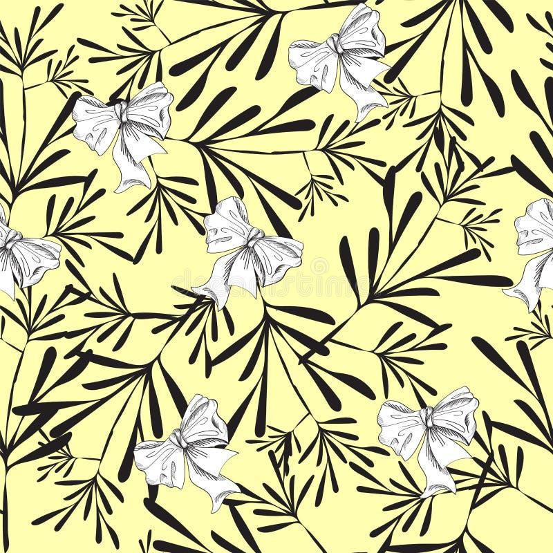 Sömlös gul nätt modell vektor illustrationer