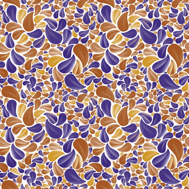 Sömlös härlig blom- bakgrund i guling, brunt-apelsin och vektor illustrationer