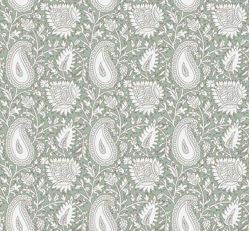 Sömlös härlig paisley bakgrund royaltyfri illustrationer