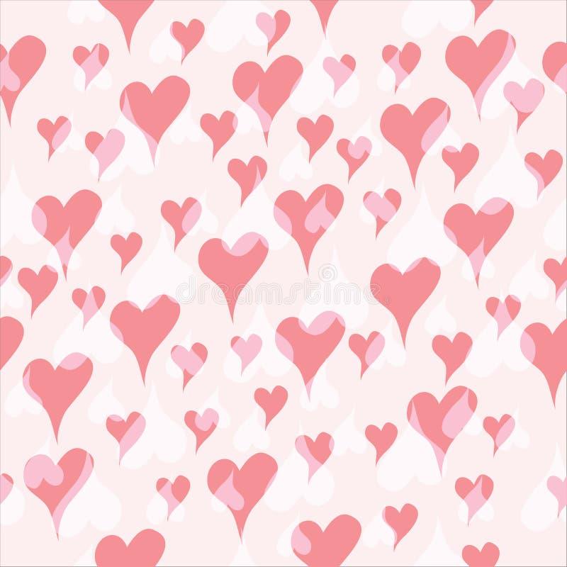 Sömlös hjärtaferie royaltyfri illustrationer