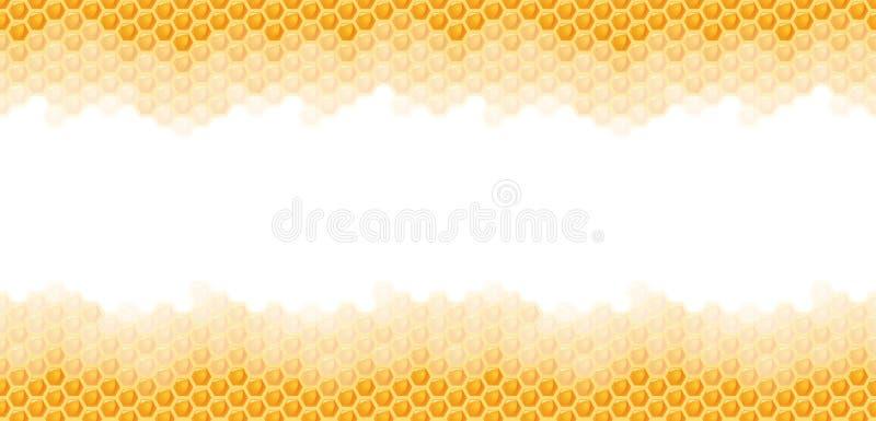 sömlös honunghårkambakgrund vektor illustrationer