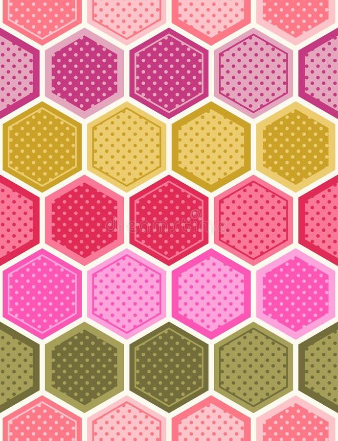 Sömlös honungskaka texturerad modell vektor illustrationer