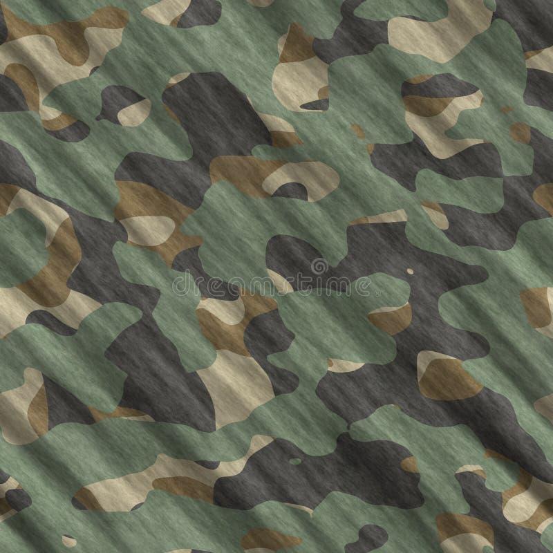 Sömlös illustration för kamouflagemodellbakgrund Klassisk klädstil som maskerar camorepetitiontrycket Grön brun sänka för svart o royaltyfri illustrationer