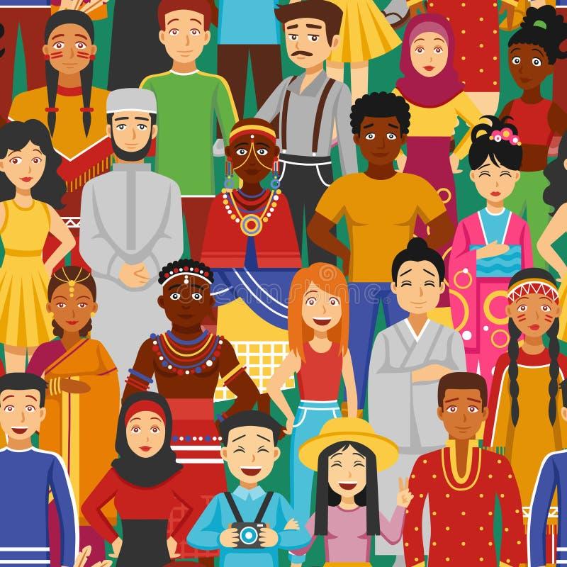 Sömlös illustration för nationer vektor illustrationer