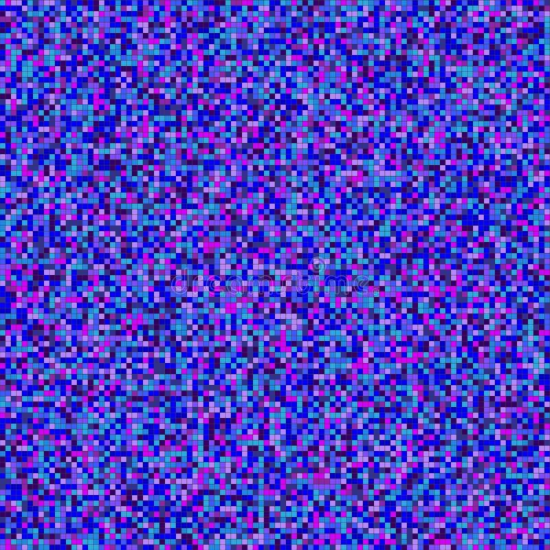 Sömlös illustration med små tegelplattor i purpurfärgade signaler, mosaik av små partiklar vektor illustrationer