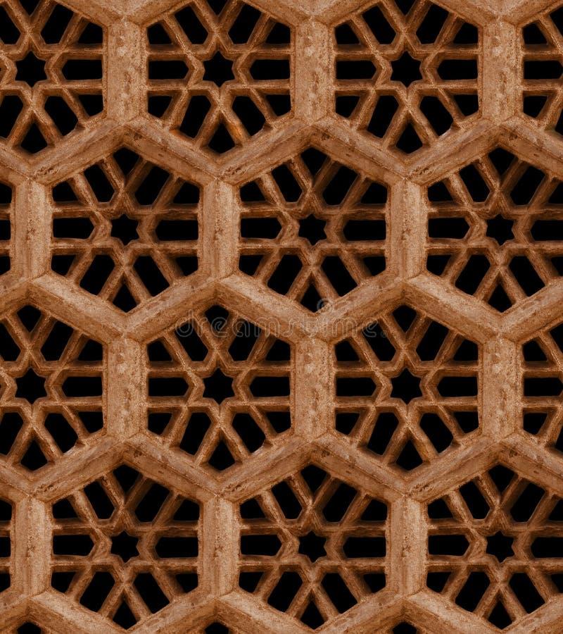 Sömlös indisk modell - brunt sandstengaller på svart backgro arkivbilder