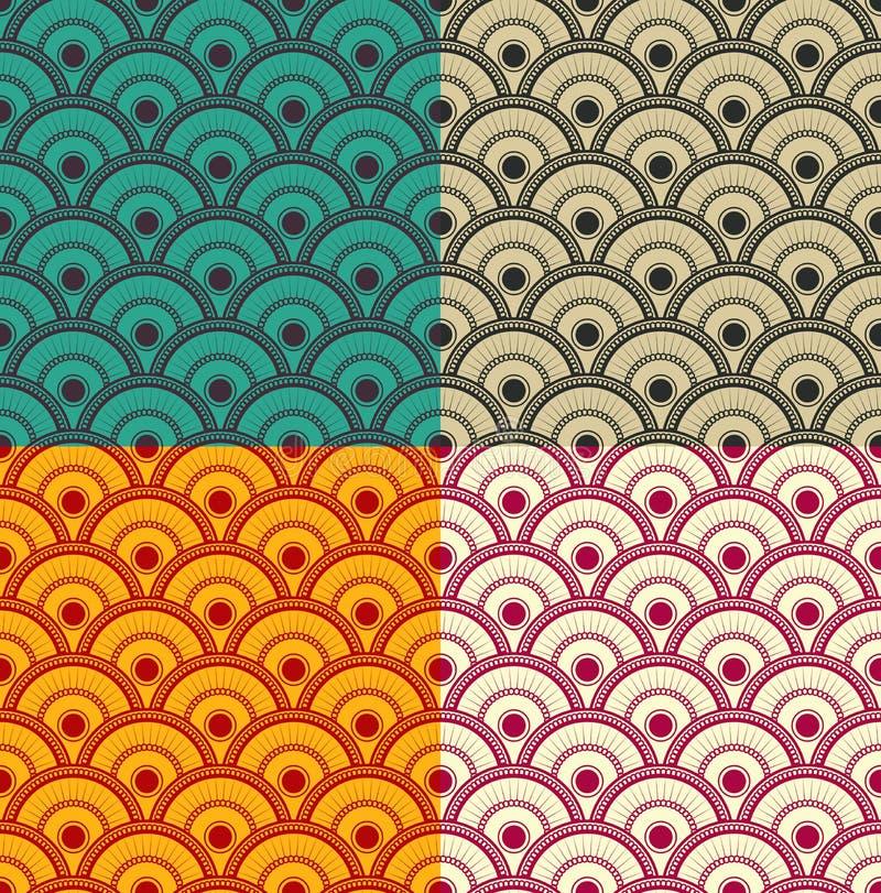 Sömlös japansk vågmodell - vektor eps8 royaltyfri illustrationer