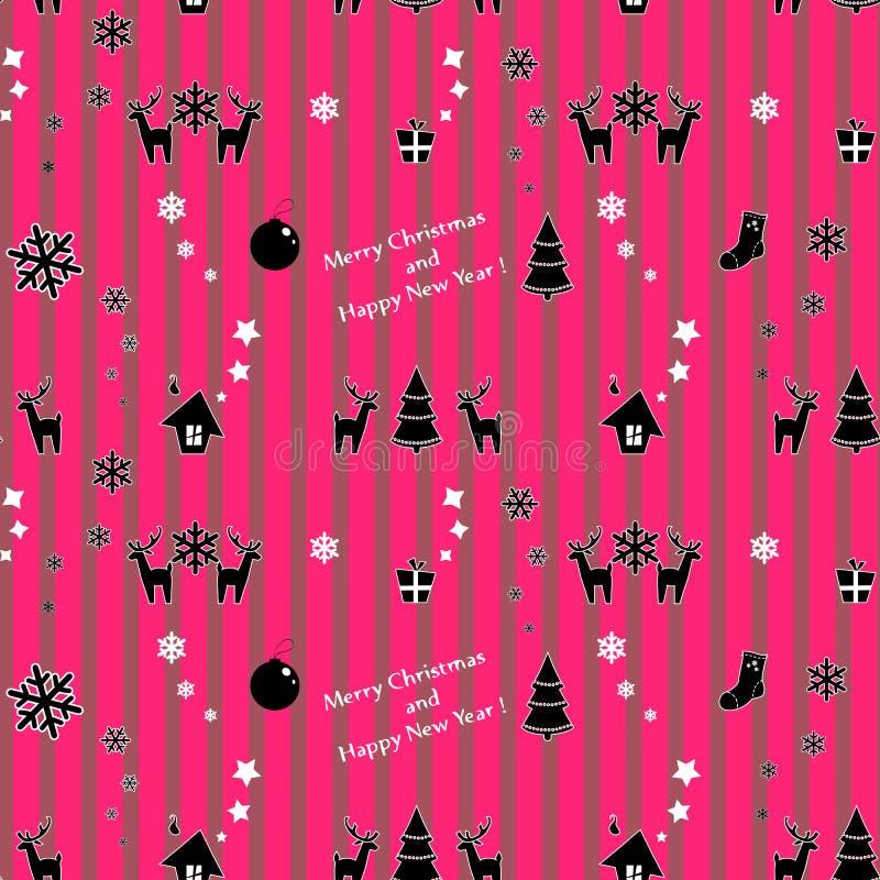 Sömlös julmodell för vektor stock illustrationer