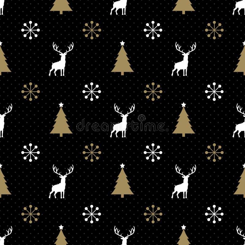 Sömlös julren royaltyfri illustrationer