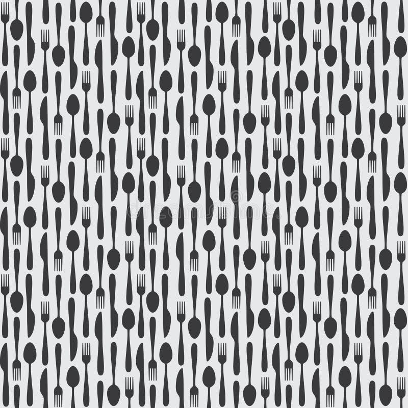 Sömlös kökbestickmodell stock illustrationer