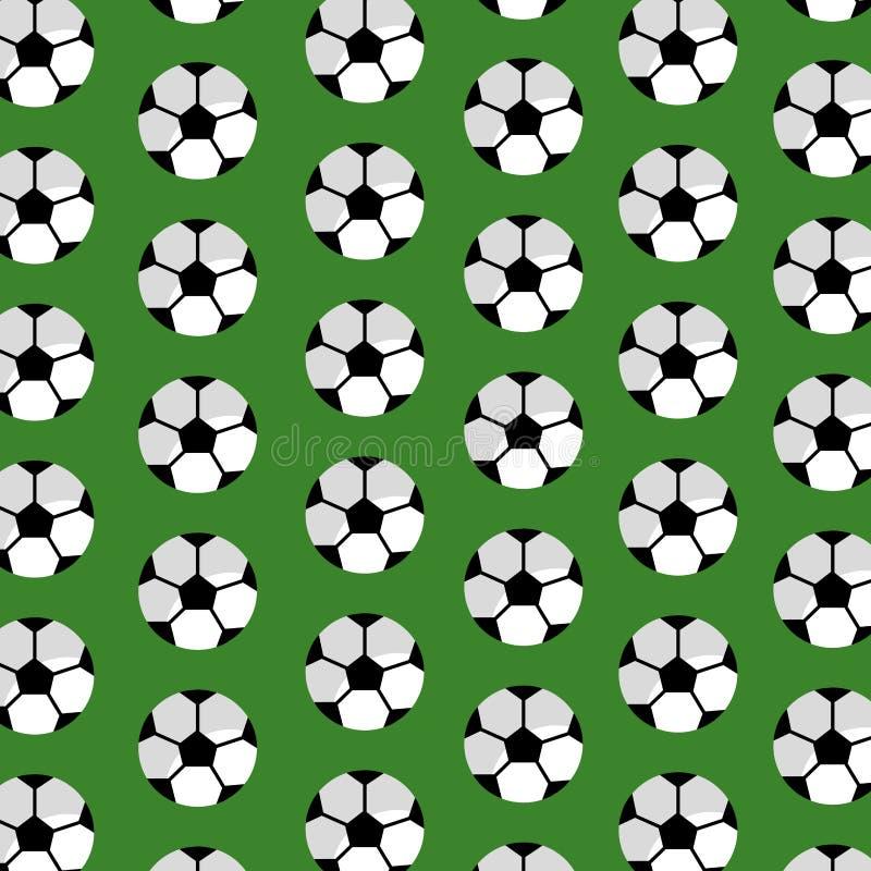 Sömlös klubba för sport för modellfotbollboll stock illustrationer