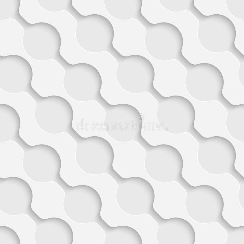 Sömlös krökt Shape modell stock illustrationer