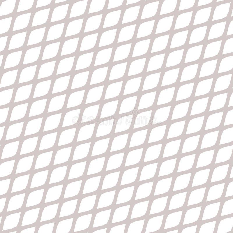 Sömlös latticed diagonal modell Ingreppstextur stock illustrationer