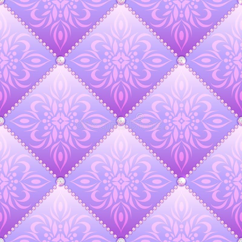 Sömlös lila glamour vektor illustrationer