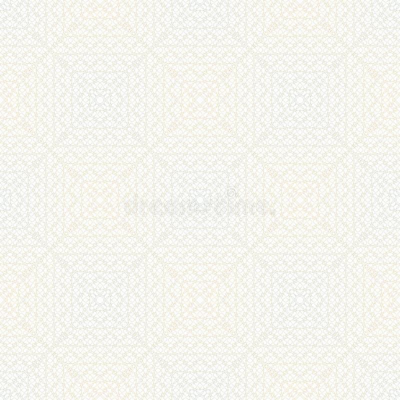 Sömlös linjär krabb textur stock illustrationer
