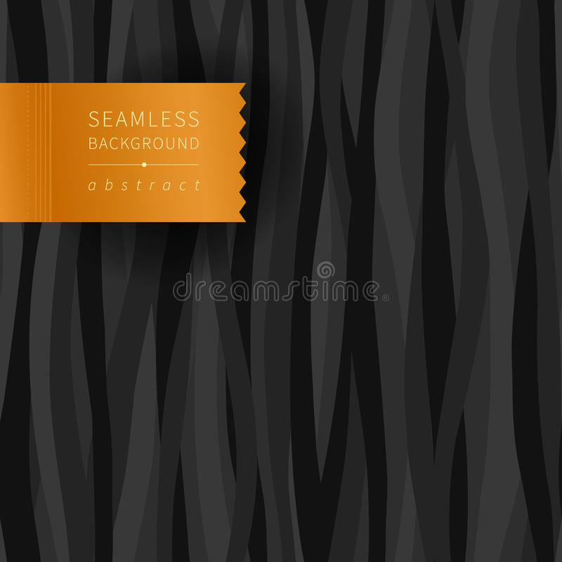 Sömlös mörk modell med vågor vektor illustrationer